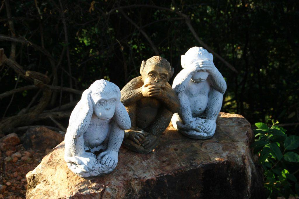 Les trois singes de la sagesse
